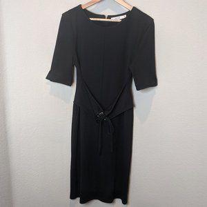 Justfab Black Mini Dress Corset Belt Half Sleeve M